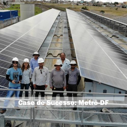 Metrô de Brasília inaugura projeto de energia solar